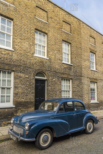 England - February 7, 2020: Colorful 19th Century Georgian architecture, Waterloo, London, England