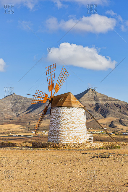Spain, Canary Islands, Fuerteventura, Molino de Tefia, traditional windmill in Tefia