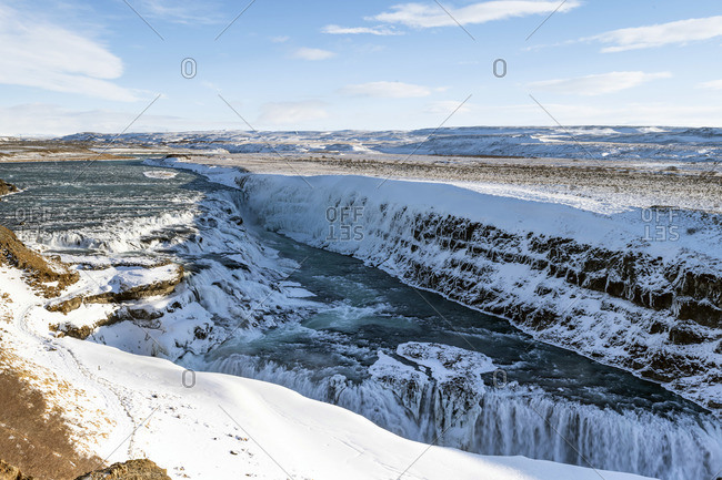 Gullfoss waterfall, Golden Circle, Haukaladur, Iceland, Europe