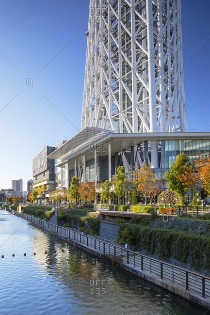 Japan - November 14, 2019: Tokyo Sky tree and Tokyo Solamachi mall, Tokyo, Japan