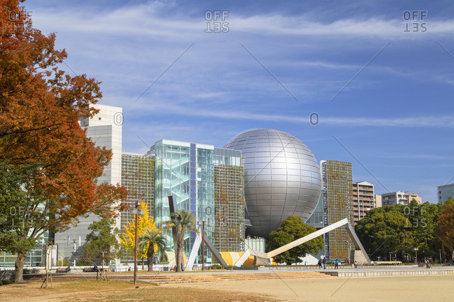 Japan - November 18, 2019: Nagoya City Science Museum in Shirakawa Park, Nagoya, Japan