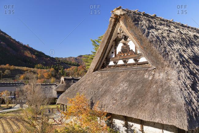 Traditional houses of Ogimachi (UNESCO World Heritage Site), Shirakawa-go, Toyama Prefecture, Japan