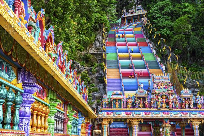 Malaysia - January 10, 2020: Sri Subramaniar Swamy Temple, Batu Caves, Kuala Lumpur, Malaysia