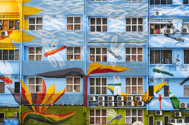 Malaysia - January 20, 2020: Street Art, Kuala Lumpur, Malaysia, South East Asia