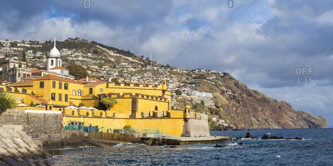 Portugal - November 14, 2019: Portugal, Madeira, Funchal, Sao Tiago Fort