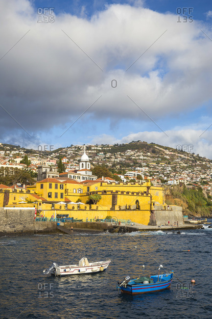 Portugal - November 14, 2019: Portugal, Madeira, Funchal, View of Sao Tiago Fort