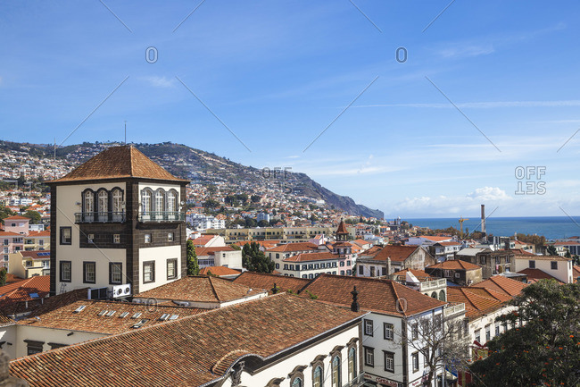 Portugal - November 21, 2019: Portugal, Madeira, Funchal, Town Hall Square, City Hall