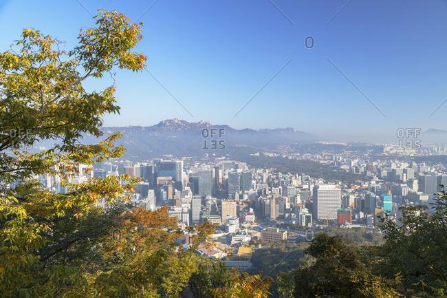 South Korea - October 27, 2019: Seoul cityscape, South Korea