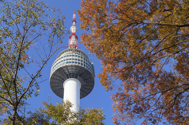 Seoul Tower in Namsan Park, South Korea