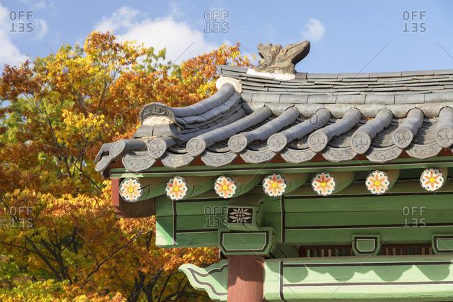 Secret Garden in Changdeokgung Palace (UNESCO World Heritage Site), Seoul, South Korea