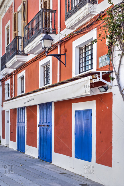 Spain - February 8, 2020: Dalt Vila old town, Ibiza, Balearic Islands, Spain