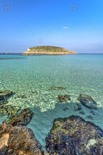 Cala Comte beach, Ibiza, Balearic Islands, Spain