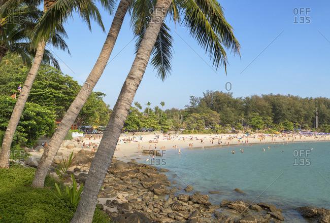 Thailand - January 30, 2020: Hai Nan Beach, Phuket, Thailand