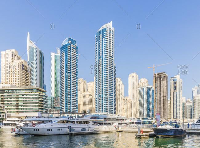 United Arab Emirates - November 27, 2019: Dubai Marina, Dubai, United Arab Emirates,