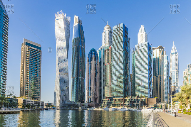 United Arab Emirates - November 28, 2019: Dubai Marina, Dubai, United Arab Emirates,