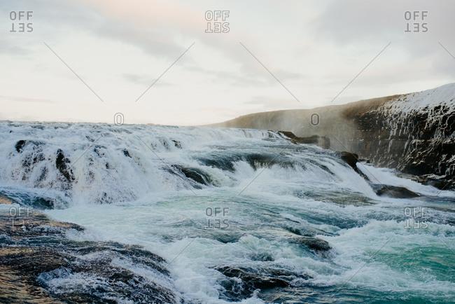 Gullfoss waterfall, Haukadalur, Arnessysla, Iceland