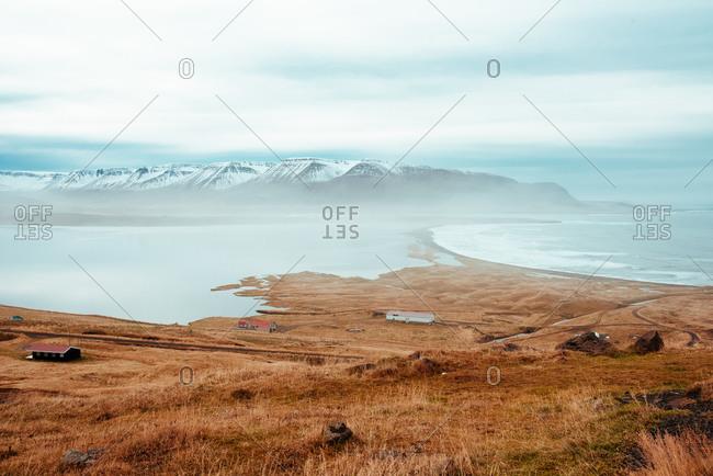 Mountains in background, Eskifjordur, Sudur-Mulasysla, Iceland