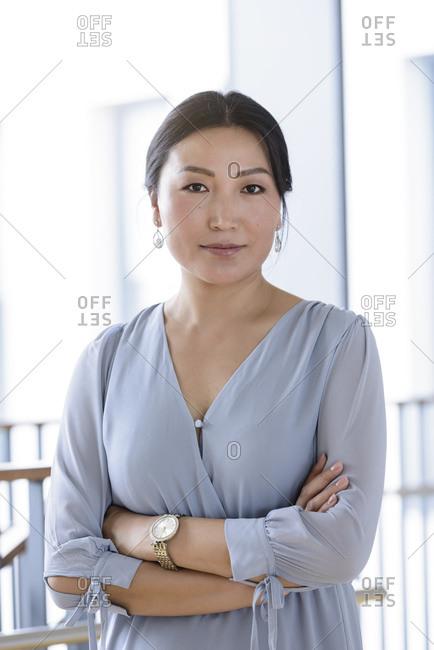 Portrait of businesswoman in office