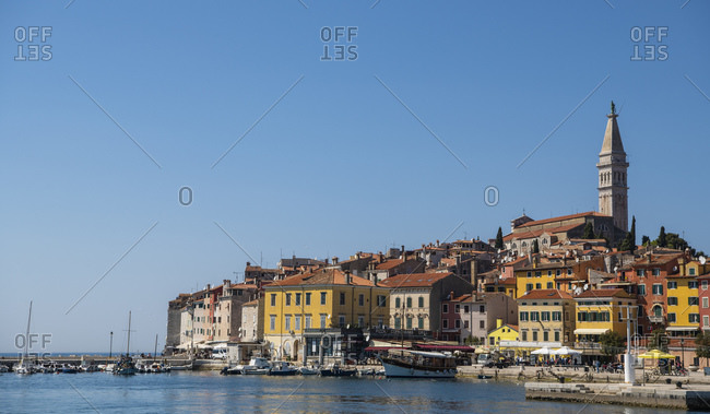 April 20, 2019: Scenic coastal town of Rovinj, Croatia