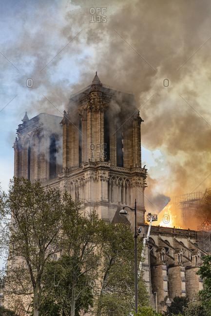 Notre-Dame de Paris fire, Paris, Ile-de-France, France