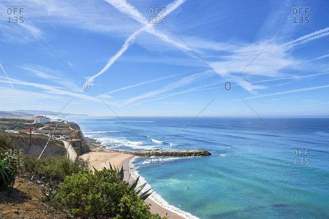 Beach and coast near Ericeira, Lisbon region, Portugal
