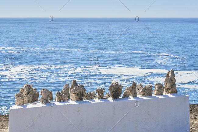 Rocks on beach on the coast near Ericeira, Lisbon region, Portugal
