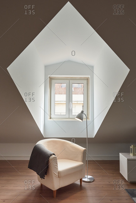 Armchair in front of Window, Lisbon, Portugal