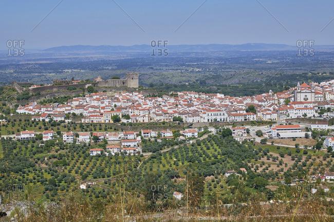 Aerial view of Castelo de Vide, Alentejo, Portugal