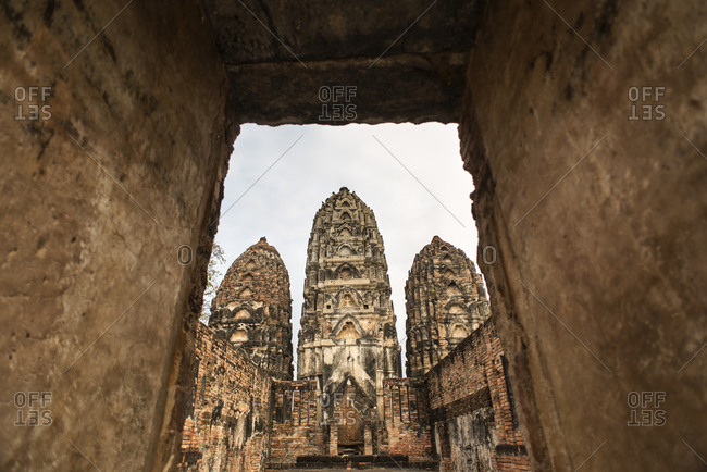 Wat Si Sawai temple, Sukhothai Historical site, Sukhothai, Thailand.