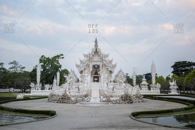 The White temple of Wat Rong Khun in Chiang Rai, Thailand.