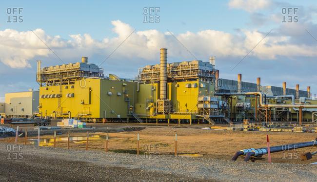 Prudhoe Bay, Alaska - June 21, 2017: Energy production on the North Slope of Alaska