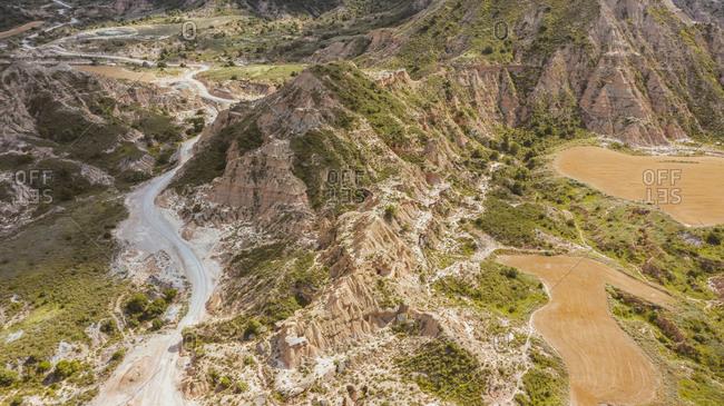 Aerial view of Monegros Desert, Spain