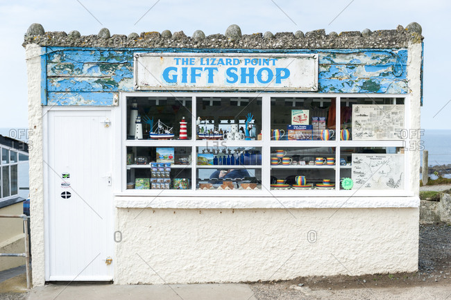Lizard Peninsula, Cornwall, United Kingdom, The Lizard, Cornwall, United Kingdom - April 5, 2015: The Lizard Point gift shop in Cornwall
