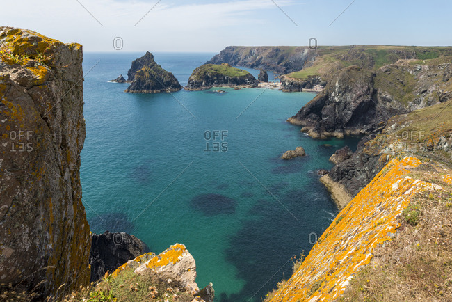 clear water at Kynance Cove on the Lizard Peninsula in Cornwall