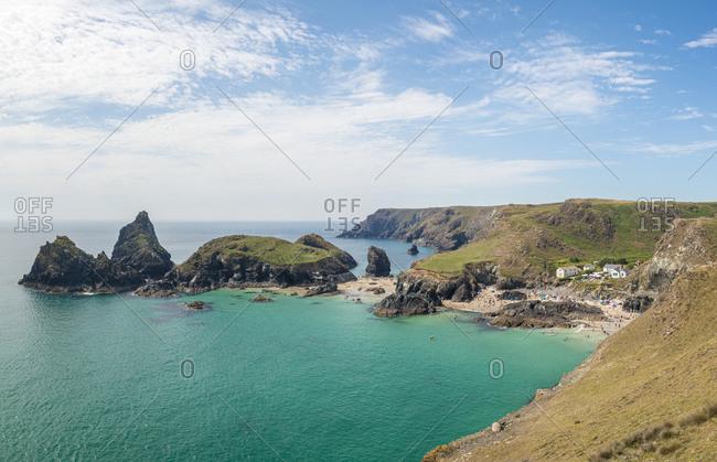 Kynance Cove on the Lizard Peninsula in Cornwall