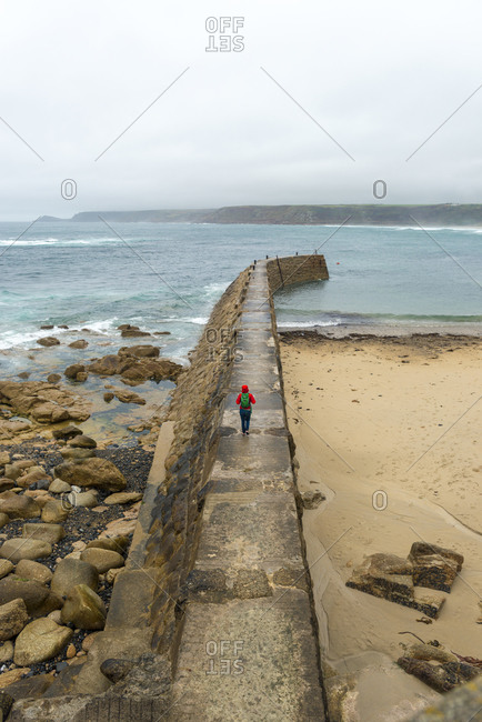 The breakwater at Sennen in Cornwall