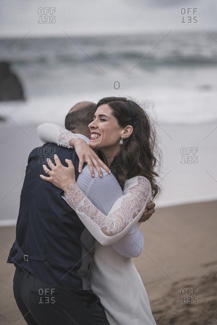 Bridal couple at the beach