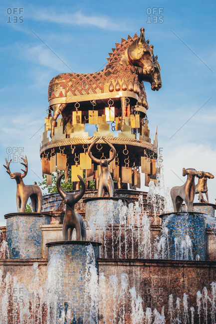 - May 3, 2018: Georgia- Imereti- Kutaisi- Fountain with animal statues