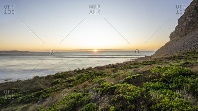 Sunset at Preminghana, an Indigenous Protected Area, Tasmania, Australia