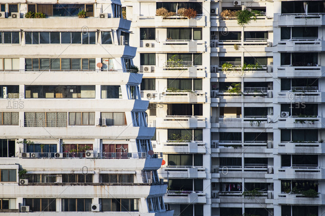 Multistorey apartment building, Bangkok, Thailand
