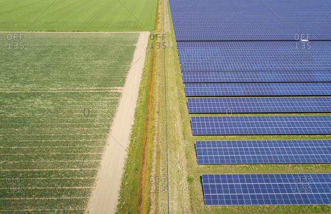 Large solar farms, Andijk, Noord-Holland, Netherlands