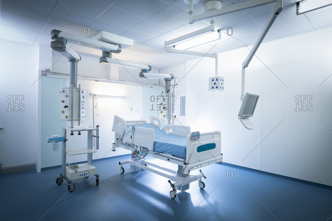 Intensive care unit (ICU) in hospital setting