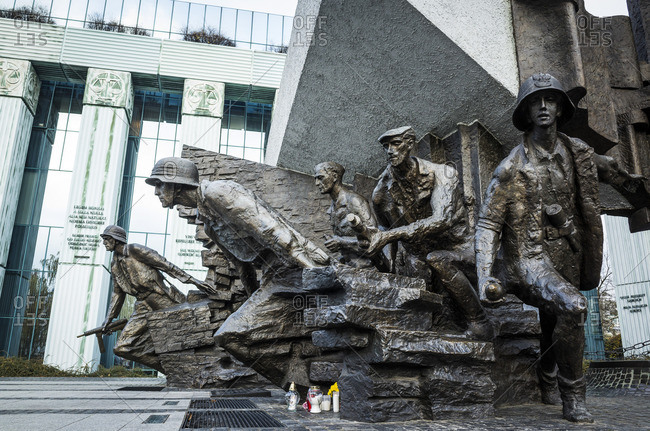 January 1, 1970: Monument of the Warsaw Uprising, Krasinski Square, Warsaw, Poland
