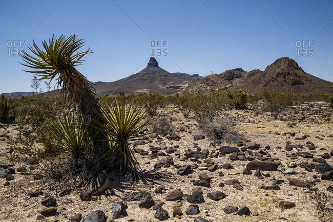 Historic Route 66 between Kingman and Oatman, Arizona, USA