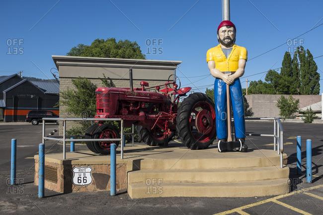 January 1, 1970: Flagstaff, Arizona, Historical Route 66, USA