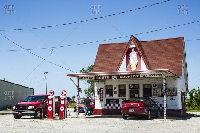 January 1, 1970: Diary King Cafe, Historic Route 66, Oklahoma, USA