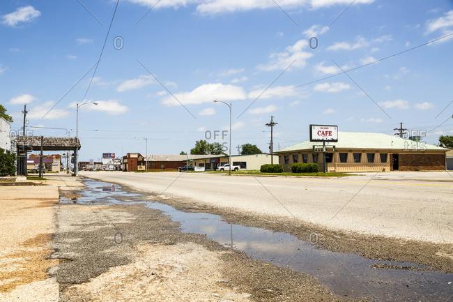 January 1, 1970: Oklahoma City, Historic Route 66, Oklahoma, United States
