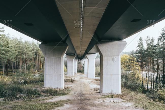 Underneath motorway bridge in Ilmenau