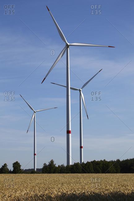 Langwedel wind farm near Gifhorn, Lower Saxony, Germany