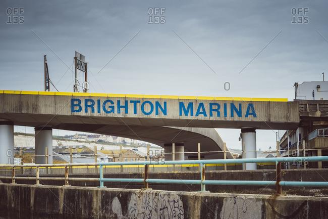 January 1, 1970: Bridge at the harbor, Brighton Marina, Brighton, England